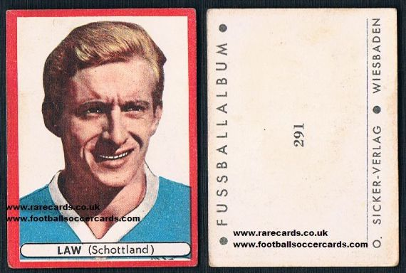 1964 Denis Law Scotland 291 Sicker